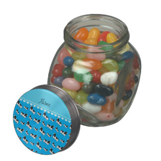 Name sky blue english cocker spaniel dog jelly belly candy jars