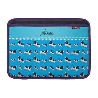 Name sky blue english cocker spaniel dog MacBook air sleeve