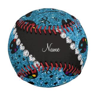 name sky blue glitter painter palette brushes baseball