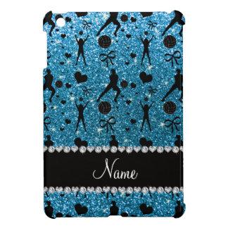 Name sky blue glitter volleyballs hearts bows iPad mini cases