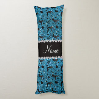 Name sky blue glitter wrestling hearts bows body pillow
