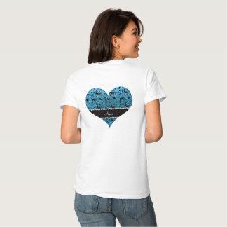 Name sky blue glitter wrestling hearts bows tee shirt