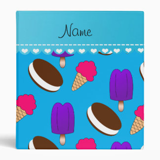 Name sky blue ice cream cones sandwiches popsicles binders