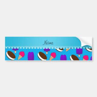 Name sky blue ice cream cones sandwiches popsicles car bumper sticker