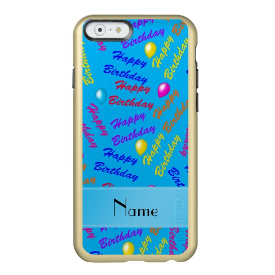 Name Sky Blue Rainbow Happy Birthday Balloons Incipio IPhone Case