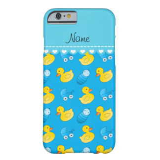 Name sky blue rubberduck baby carriage barely there iPhone 6 case