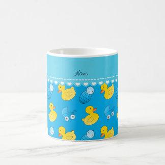Name sky blue rubberduck baby carriage coffee mug