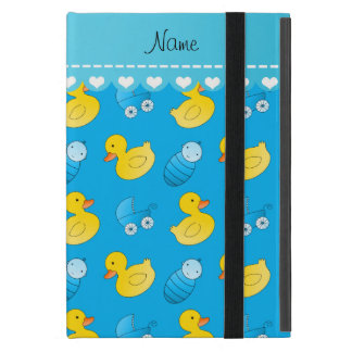 Name sky blue rubberduck baby carriage iPad mini cover