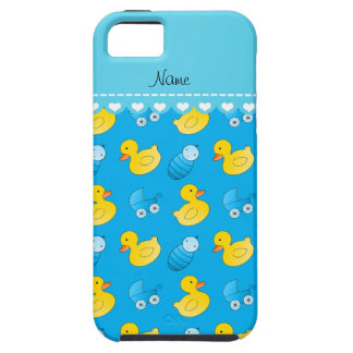Name sky blue rubberduck baby carriage iPhone SE/5/5s case