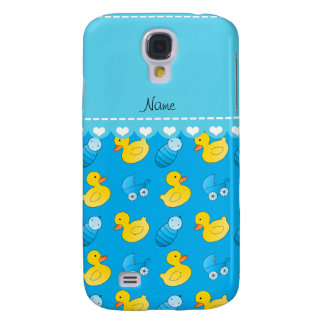 Name sky blue rubberduck baby carriage samsung galaxy s4 case