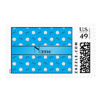 Name sky blue volleyball balls and nets postage stamps