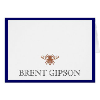 Name Stationary with Bee Stationery Note Card