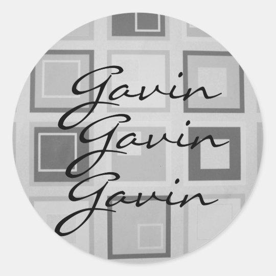 Name sticker for , Gavin