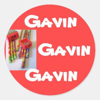 Name stickers 4: Gavin