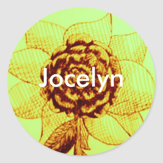 name stickers for, Jocelyn
