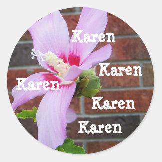 Name stickers for Karen