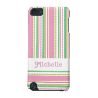 Name stripey beads pink ipod case