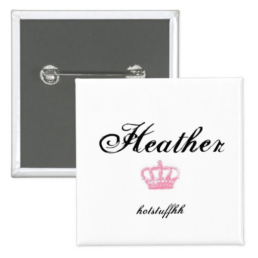 Name Tag Buttons - Customized