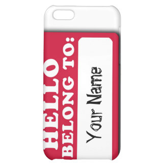 Name tag case for iPhone 4