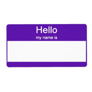 Name tag Labels