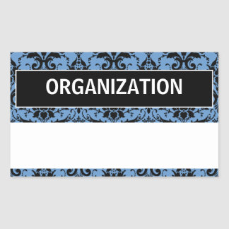 Name Tag Labels Rectangular Sticker