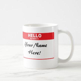 Name Tag Mug