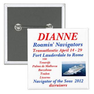 name tag navigator white pinback button