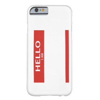 Name tag phone cover for iPhone 6 case