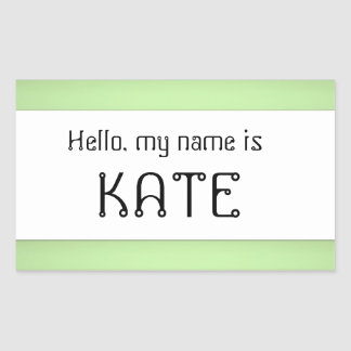 Name tag sticker Hello my name is