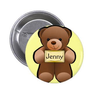 Name Tag Teddy Button