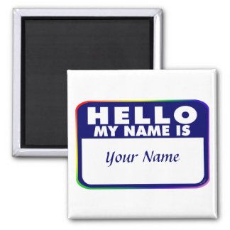 Name Tag Template 2 Inch Square Magnet