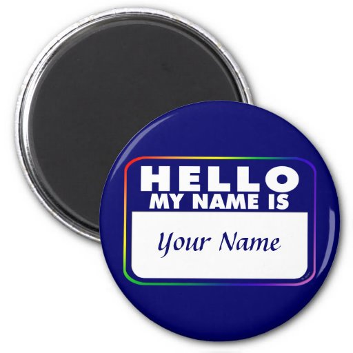 Name Tag Template Refrigerator Magnet