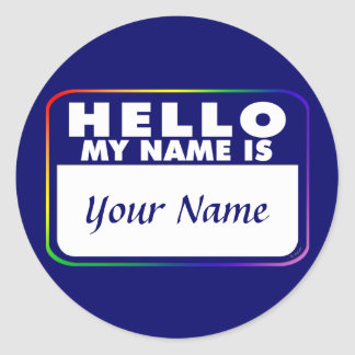 Name Tag Template Classic Round Sticker