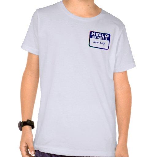 Name Tag Template Tshirts