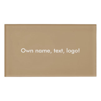 Name Tag uni Gold