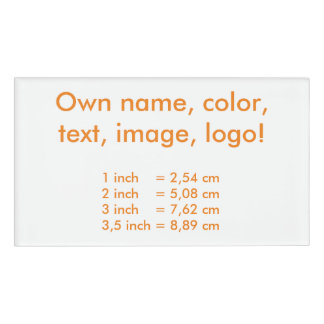 Name Tag uni White - Own Color
