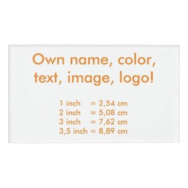 Oranjeshop Name Tag uni White - Own Color