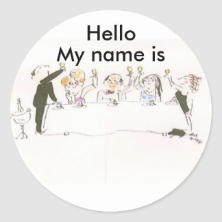 Name Tags for Party Classic Round Sticker