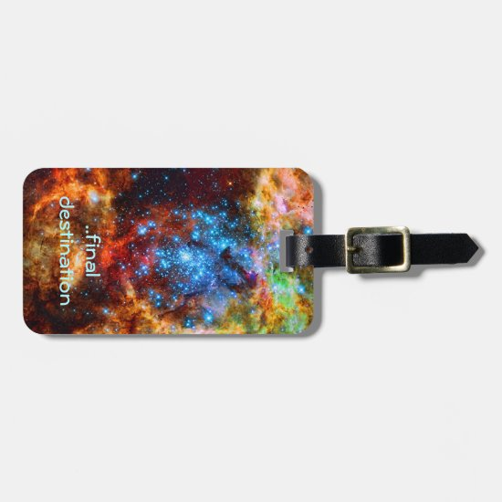 Name, Tarantula Nebula, outer space image Bag Tag