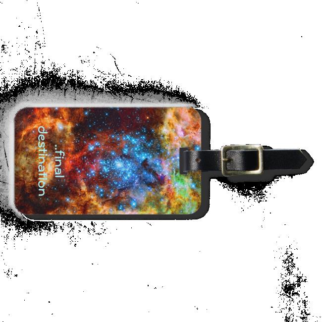 Name, Tarantula Nebula, outer space image Luggage Tag