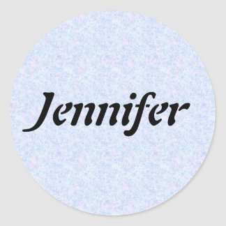 Name Template Classic Round Sticker