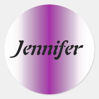 Name Template Classic Round Sticker