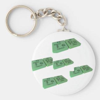 name-Tera-Te-Ra-Tellurium-Radium Keychain