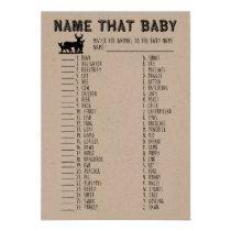 Name That Baby Shower Game, Baby Animals Matching Invitation