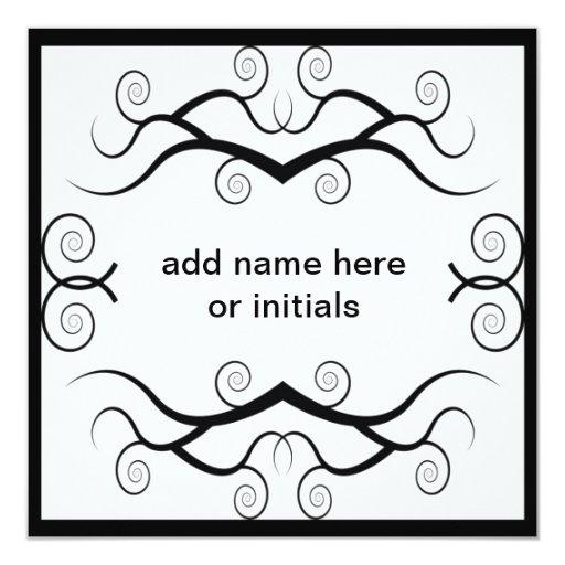 "Name that Card 5.25"" Square Invitation Card"