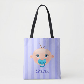 """Name This!"" Baby Face Blue - All-Over-Print Tote"
