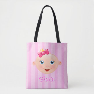 """""""Name This!"""" Baby Face Pink - All-Over-Print Tote"""