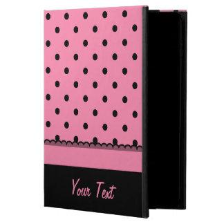 Name Tube Sock Black Polka Dots hot pink Powis iPad Air 2 Case