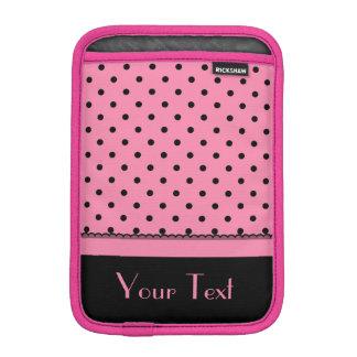 Name Tube Sock Black Polka Dots hot pink Sleeve For iPad Mini
