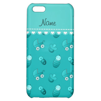 Name turquoise baby pin carriage pacifier cover for iPhone 5C